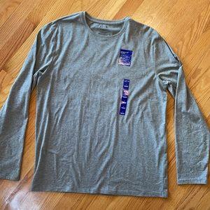 Apt 9 Gray Long Sleeve Crewneck Premier Flex shirt